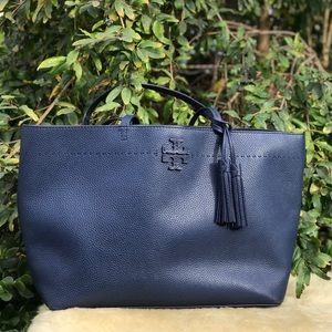 TORY BURCH💙McGraw Navy Tote Large